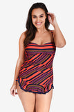 Shirred Women's Plus Size One Piece Skater Swimdress by Mazu Swim