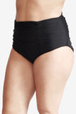 High Waist Women's Plus Size Swimsuit Brief Bottom with Ruching by Mazu Swim