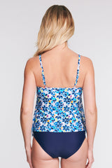 DRAPED TIER MESH TANKINI IN STARLIGHT BY MAZU SWIM