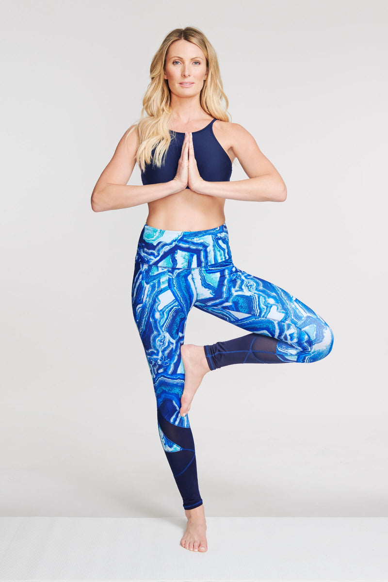 High Waisted Slimming Full Length Legging in Agate