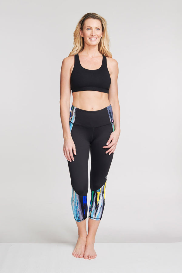 High Waisted Slimming Cropped Legging in Painted Palette