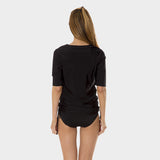 Tricot Ruched Tunic in Solid Black by Mazu Swim - Mazu Swim - 2