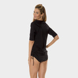 Tricot Ruched Tunic in Solid Black by Mazu Swim - Mazu Swim - 4