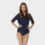 Tricot Ruched Tunic in Solid Navy by Mazu Swim - Mazu Swim - 1