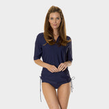 Tricot Ruched Tunic in Solid Navy by Mazu Swim - Mazu Swim - 3