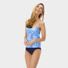 Drawstring Tankini Top in Kara's Karma by Mazu Swim - Mazu Swim - 5