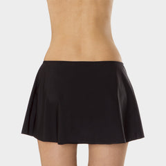 A-Line Skirt with Attached Brief in Solid Black by Mazu Swim - Mazu Swim - 2