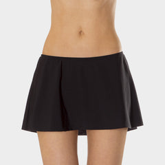 A-Line Skirt with Attached Brief in Solid Black by Mazu Swim - Mazu Swim - 1