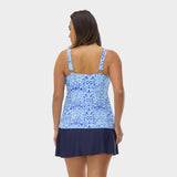 Plus Size Drape Bandeau Tankini Top in Kara's Karma by Mazu Swim - Mazu Swim - 5