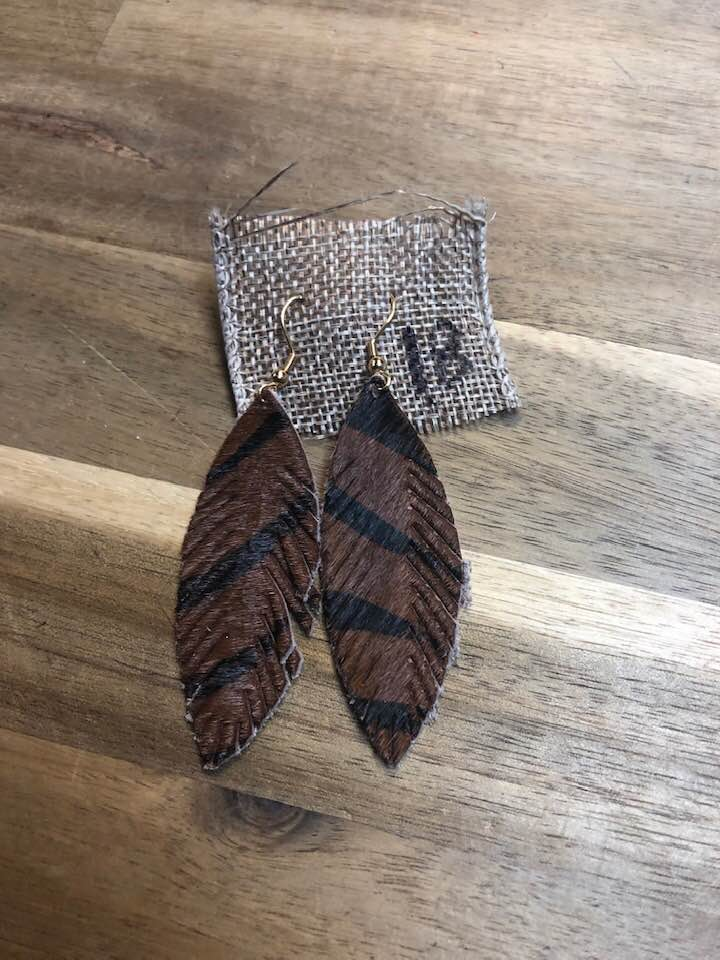 Brown Zebra Earrings
