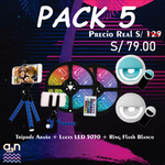 PACK 5 (Luces led 5050 + ring flash + Tripode Araña )