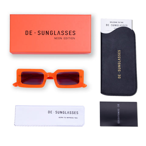 Neon orange de-sunglasses