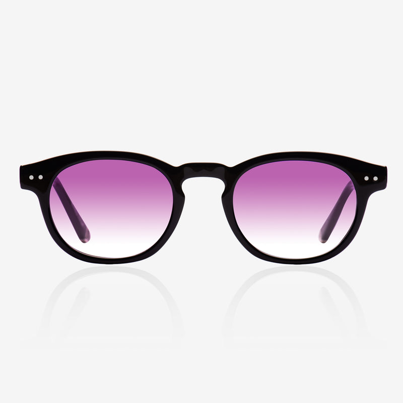 De-sunglases oxford black on model