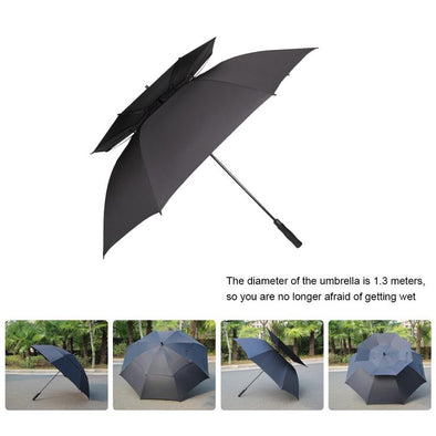 Golf Umbrella Windproof Oversized Automatic Open Umbrella Large Double Canopy Men's Umbrella