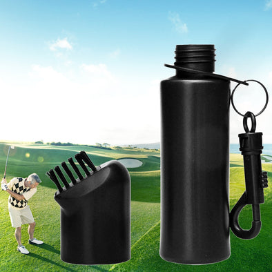 Golf Club Brush With Water Bottle Cleaning Tool Portable Removable Scrub Equipment Sports Hook Ball Outdoor Wet Practical