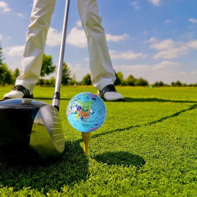 Golf Balls Globe Map Pattern Practice Ball Gift Transparent Colorful Toys Massage Golf GMT601