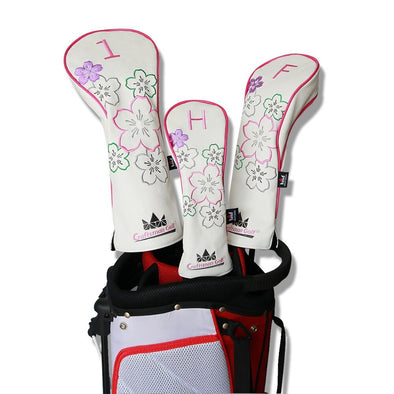 Craftsman Headcover Sets for Woods Head Cover Driver / Fairway / Hybrid Driver FW UT Headcovers Free Shipping Cherry Blossoms