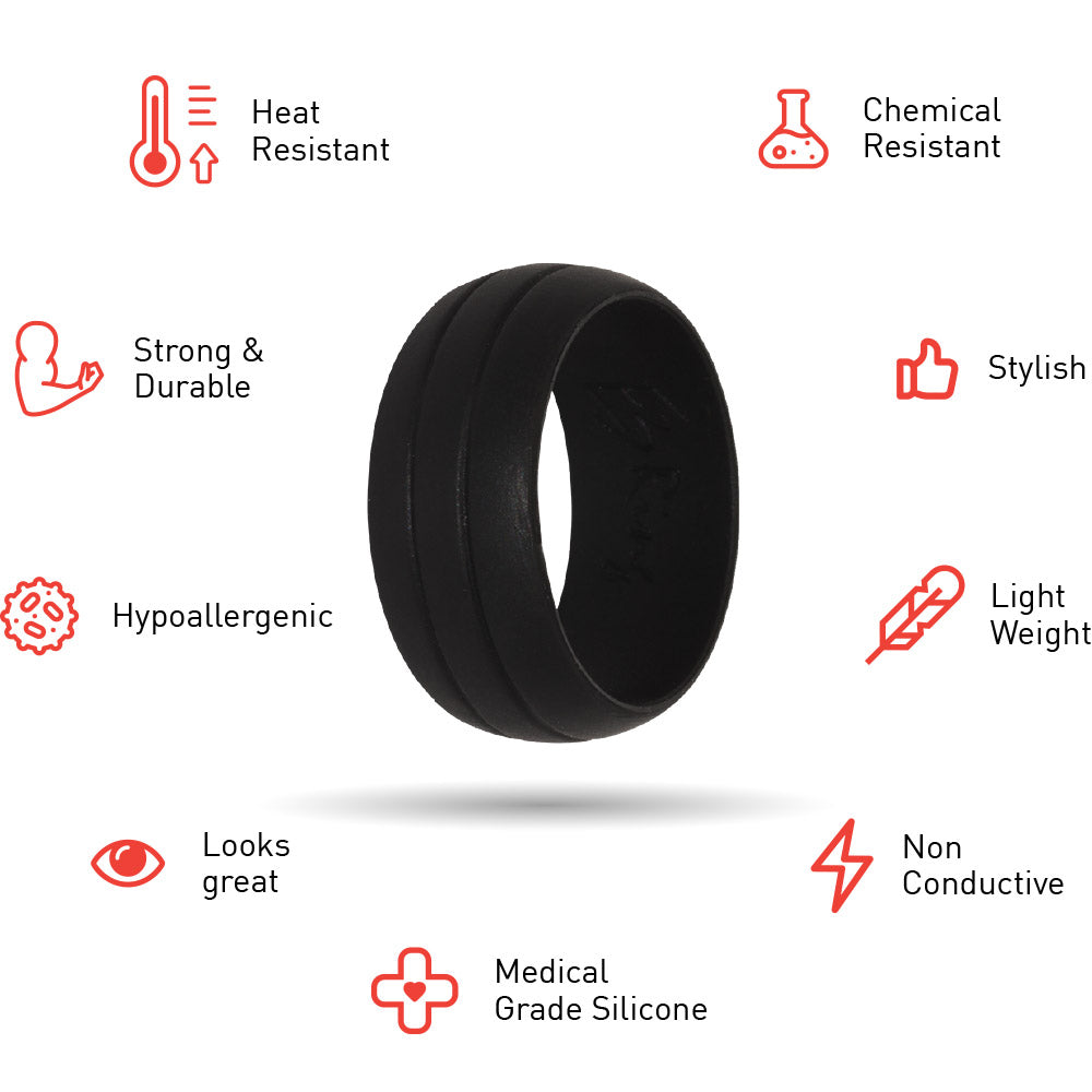 E3 Silicone Wedding Ring Properties