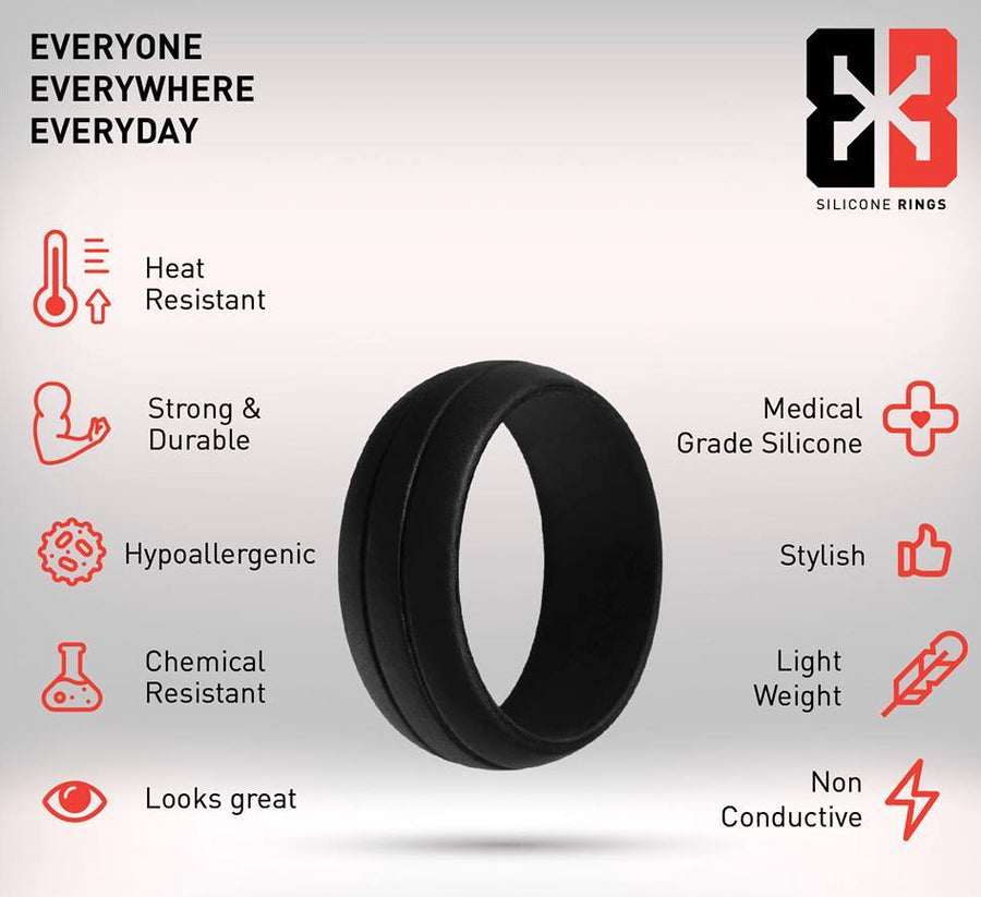 E3 Active Silicone Wedding Ring Properties