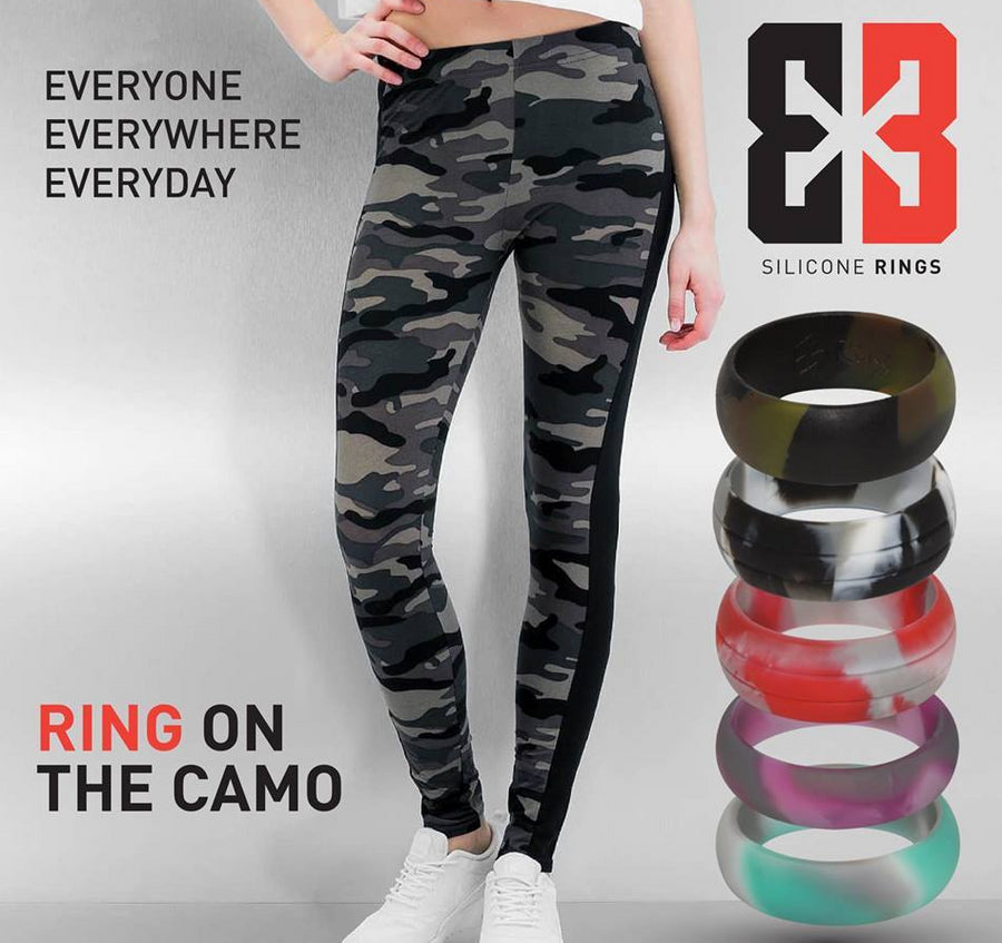 E3 Active Silicone Wedding Ring camo collection - a mixture of our favorite colours