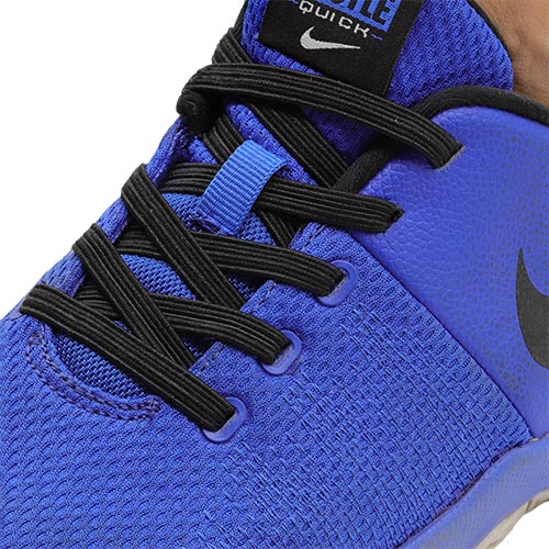 Black E3 Lastic lace used on Blue shoe, no tie shoe lace