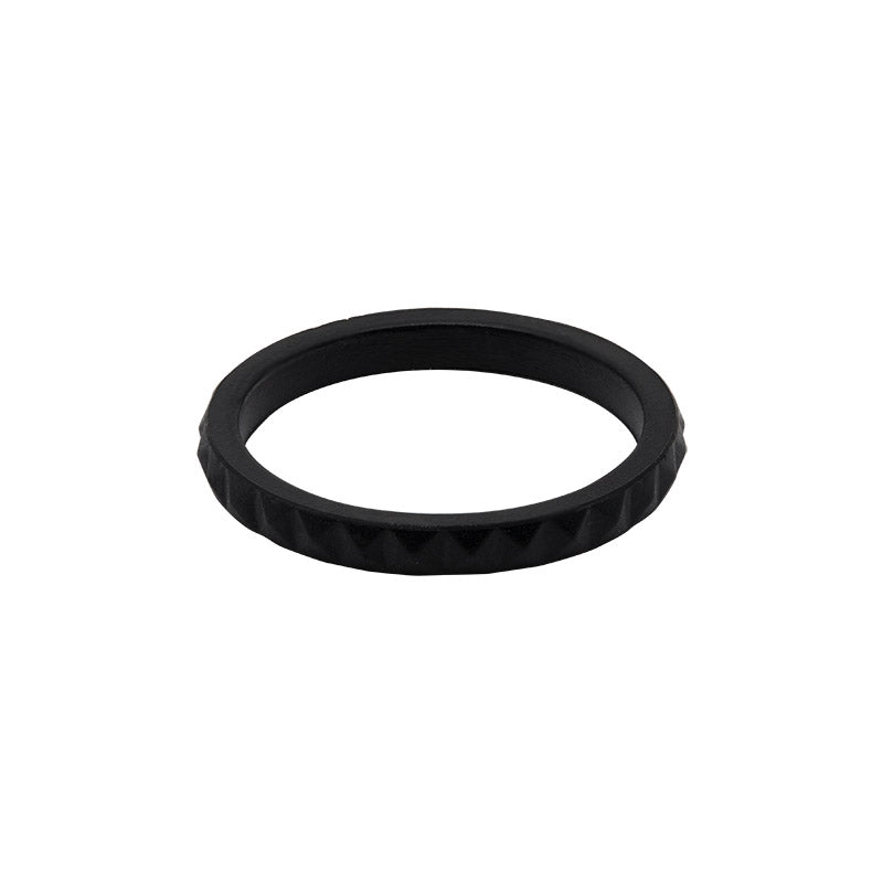 Black diamond shaped stackable - E3 Active Stacker Silicone Wedding ring