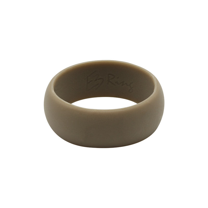 Brown Men's Plain - E3 Active Silicone Wedding Ring