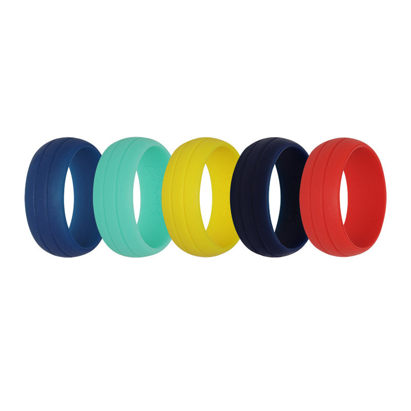 Men's Double Debossed Colour Selection - E3 Active Silicone Wedding Ring