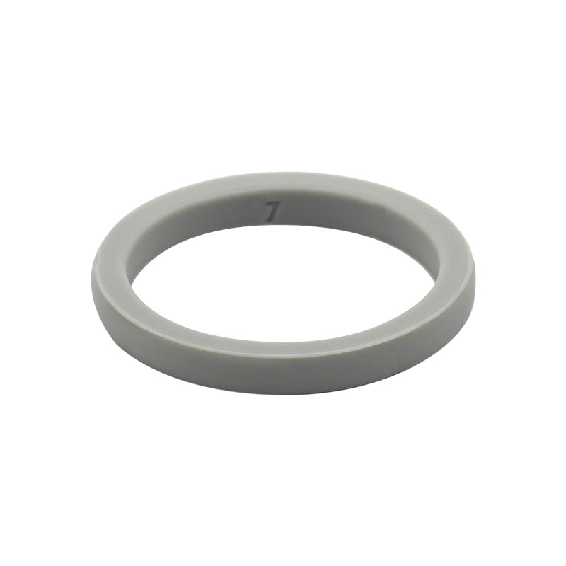 Grey smooth stackable - E3 Active Stacker Silicone Wedding ring