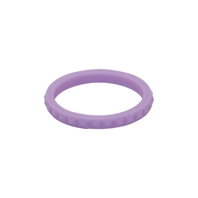 Lavender diamond shaped stackable - E3 Active Stacker Silicone Wedding ring
