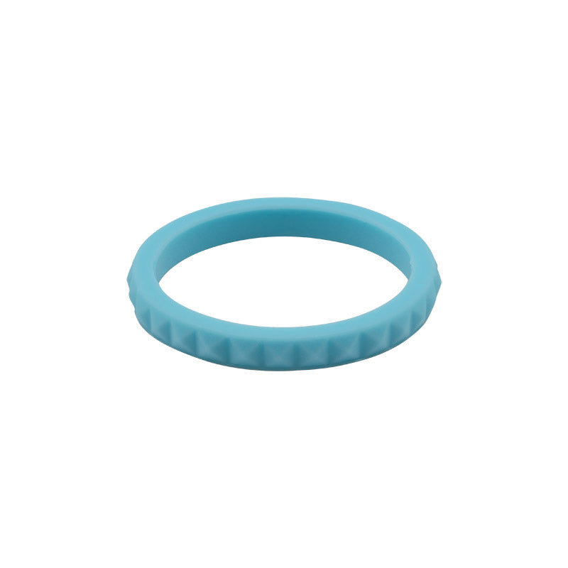 Light Blue diamond shaped stackable - E3 Active Stacker Silicone Wedding ring