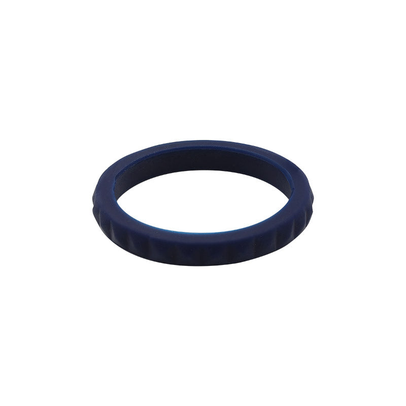 Navy Blue diamond shaped stackable - E3 Active Stacker Silicone Wedding ring