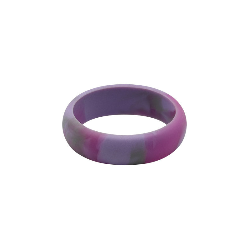 Pink Camo E3 Active Silicone Wedding Ring - mixture of pink, grey and purple