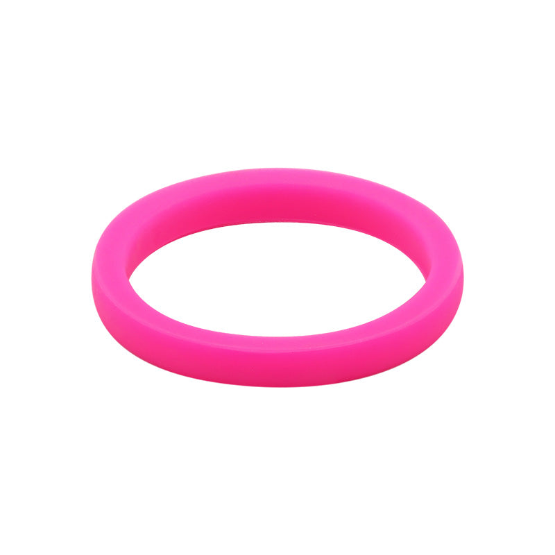 Pink smooth stackable - E3 Active Stacker Silicone Wedding ring