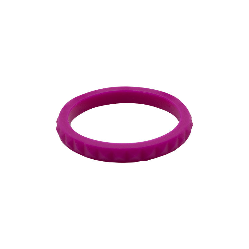 Plum diamond shaped stackable - E3 Active Stacker Silicone Wedding ring