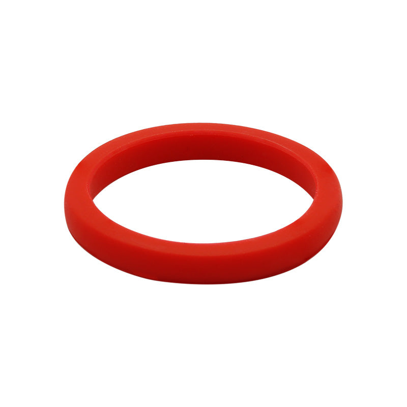 Red smooth stackable - E3 Active Stacker Silicone Wedding ring