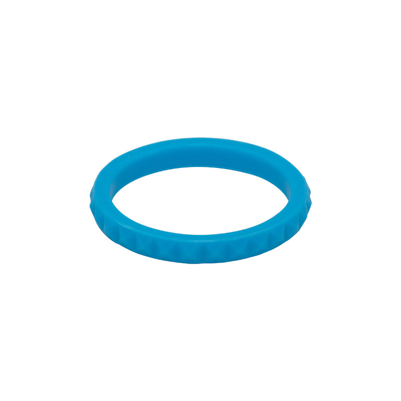 Sky Blue diamond shaped E3 Silicone Stacker ring - aka stackable