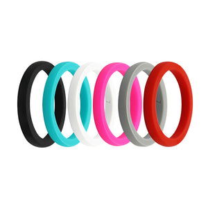 Women's Smooth Stackable Collection - E3 Stacker Silicone Wedding Ring