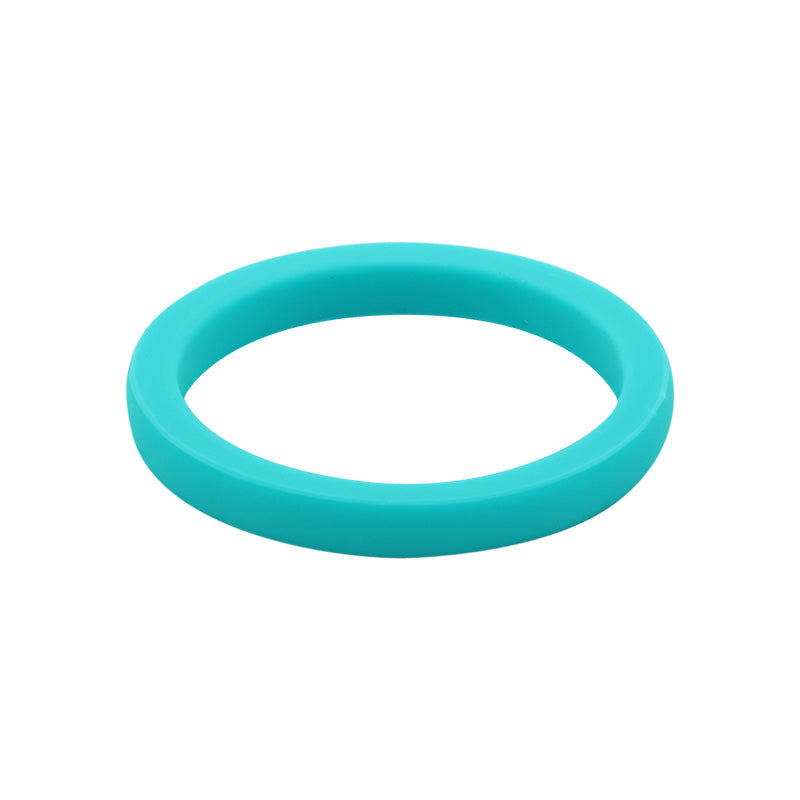 Turquoise smooth stackable - E3 Active Stacker Silicone Wedding ring