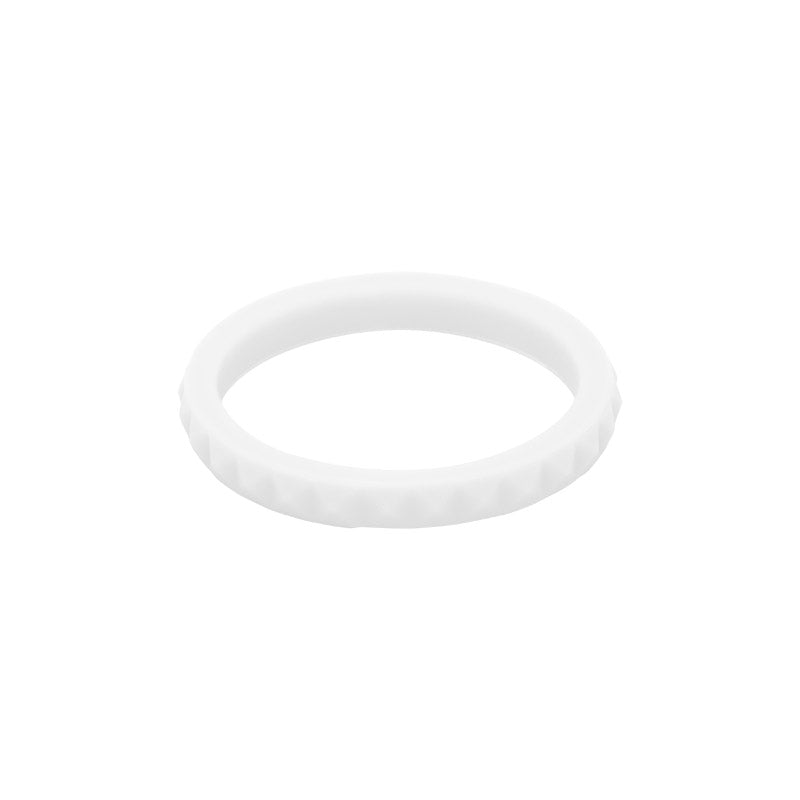 White diamond shaped E3 Silicone Stacker ring - aka stackable