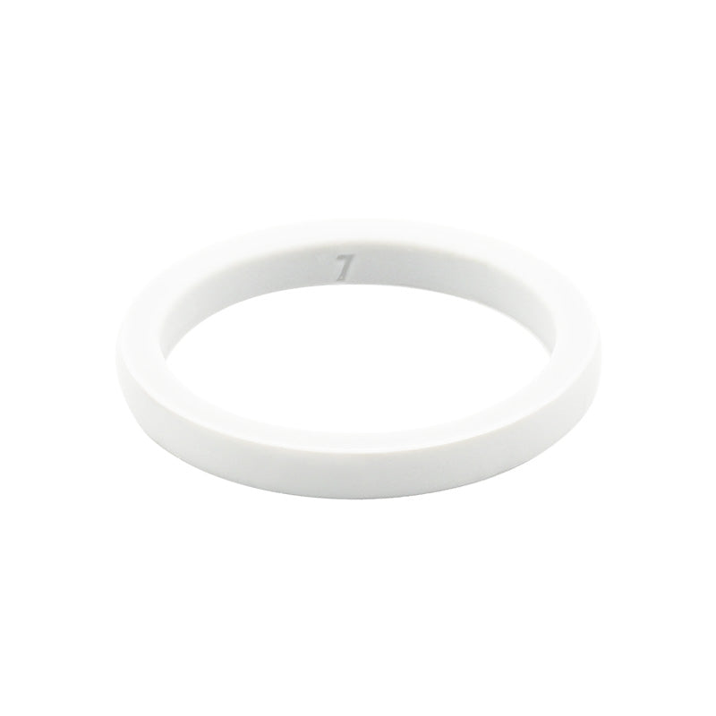 White smooth stackable - E3 Active Stacker Silicone Wedding ring