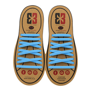 Light Blue E3 Silicone laces, no tie lace