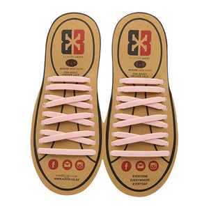 Light Pink E3 Silicone laces, no tie lace