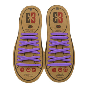 Purple E3 Silicone laces, no tie lace