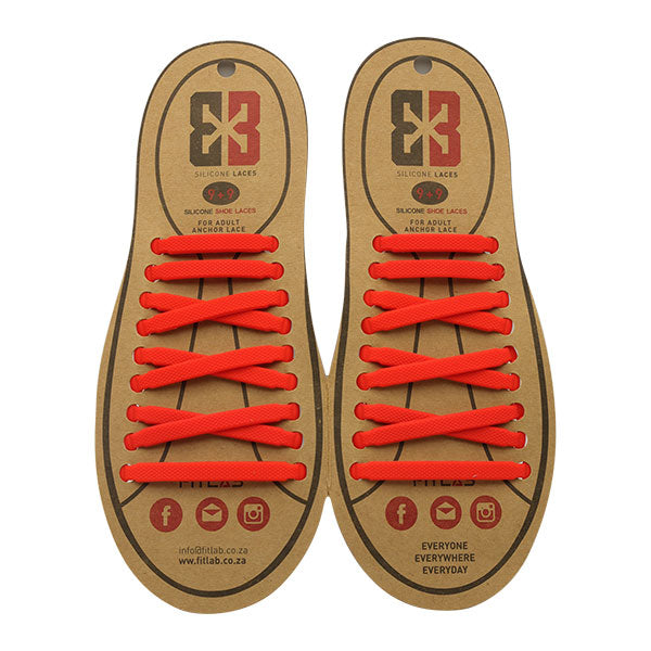 Red E3 Silicone laces, no tie lace