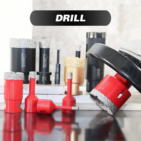 Diamond Dry Drilling Core Bits With Side Protection hard granite marble