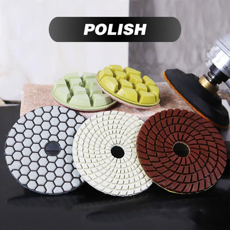 Diamond Flexible Dry polishing pads granite marble polishing