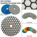 4 in. Dry Diamond Polishing Pad for Granite Marble SHDIATOOL 10sets Mixed Grits Totally 70pcs - DIATOOL