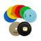 4 in. Dry Diamond Polishing Pad for Granite Marble SHDIATOOL 7pcs/set Mixed Grits plus a 5/8-11 Rubber backer - DIATOOL