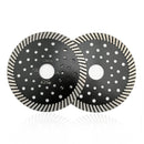"2pcs Concrete Diamond Turbo Blade with Multi Holes Cutting  Granite Marble SHDIATOOL Diameter 4"" 4.5"" 5"" 7"" 9"" - DIATOOL"